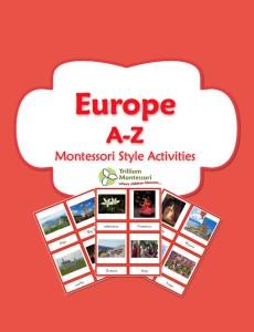 1 Europe Montessori Activities Printable Pack