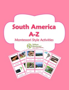 1 South America Montessori Activities Printable Pack