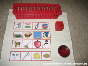 Cathie Perolman Letter Dice Game