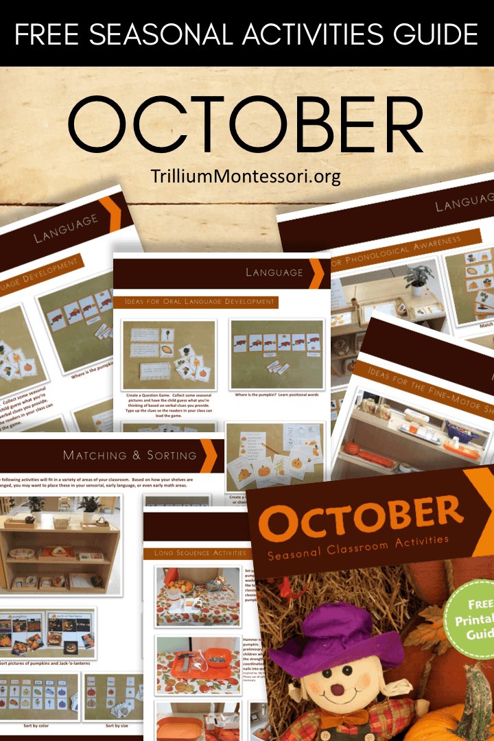 Free printable seasonal guide October