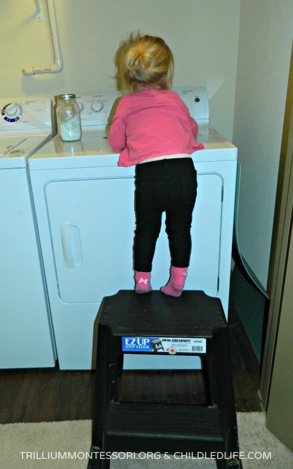 Small Space Montessori Home: The Stool at trilliummontessori.org