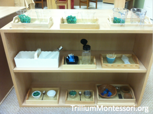Fine Motor Shelf Blue