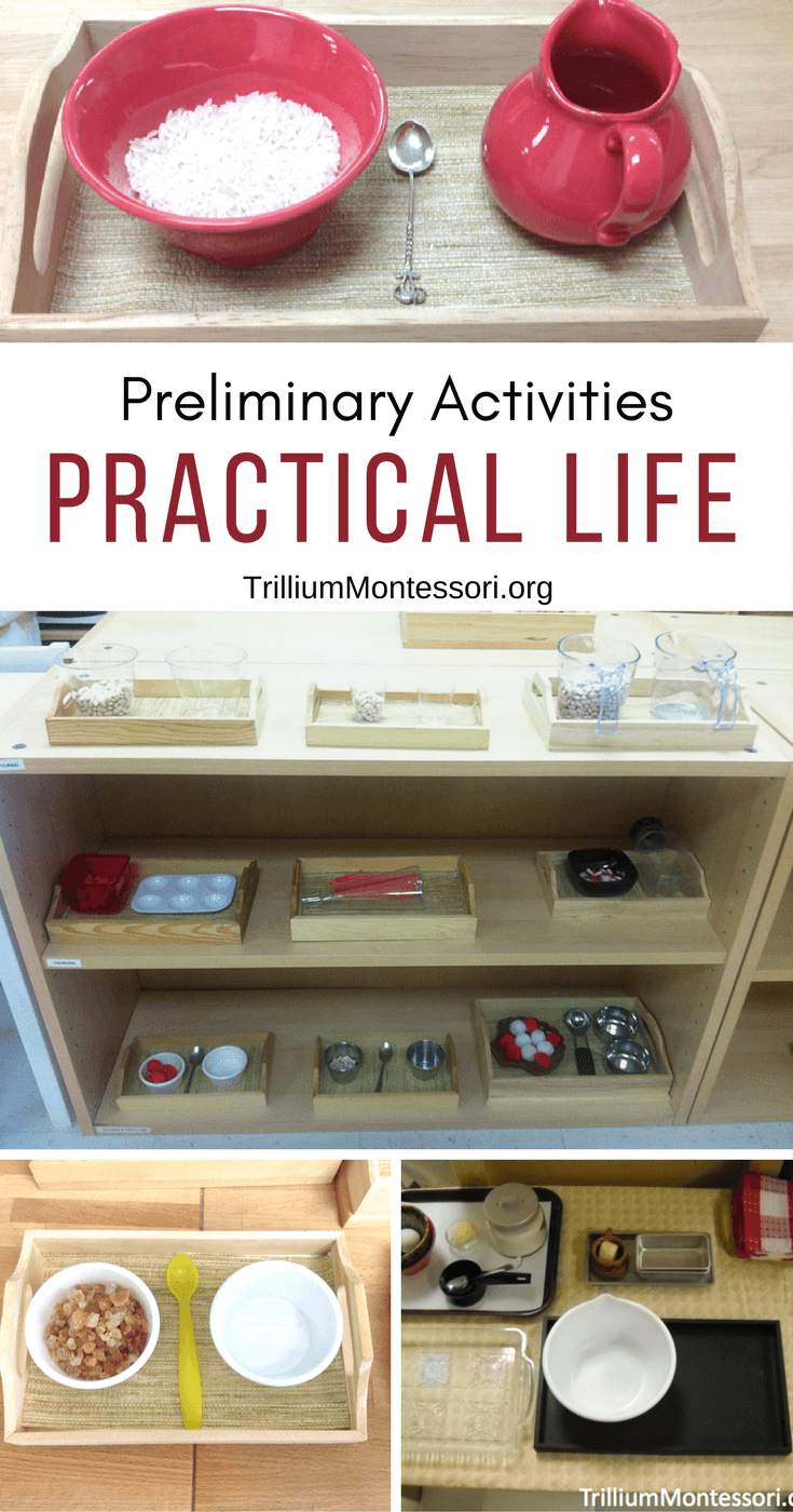 practical life exercises in montessori and Practical life 2491 words | 10 pages the activity he may arrive at independence dr maria montessori comment on the above quote and explain how the montessori practical life exercises help the child to become independent.