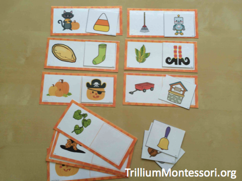 Pumpkin Patch Phonological Awareness Matching Beginning Sounds