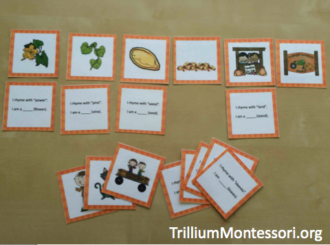 Pumpkin Patch Phonological Awareness Rhyming Riddles Game