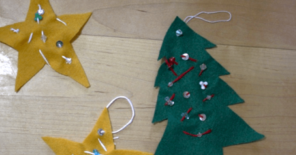 Sewing projects for preschool. great for making holiday gifts!