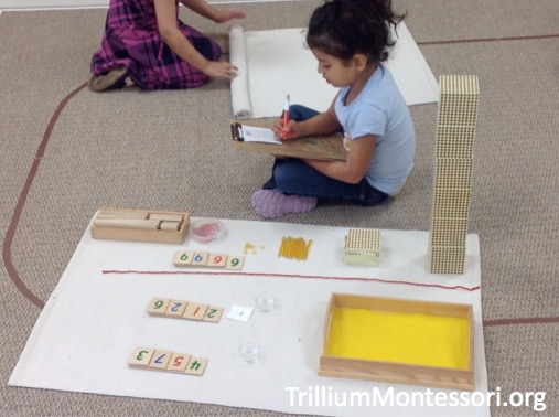 Addition with the Montessori Golden Beads