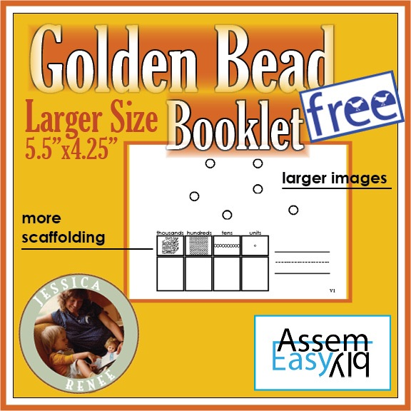 montessori golden bead sample large collage