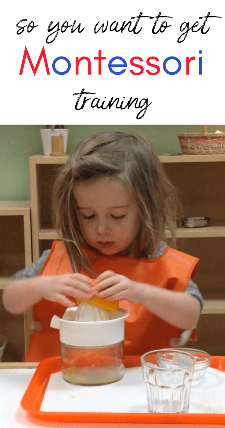 Resources for those interested in getting Montessori training
