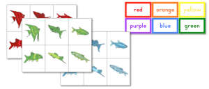 Fish Color Sorting Cards