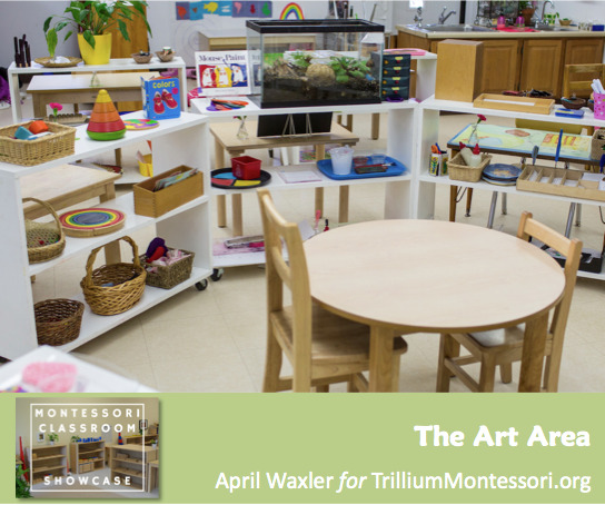 April Waxler Montessori Classroom Shelves Art