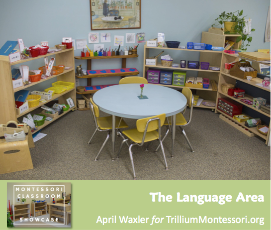 April Waxler Montessori Classroom Shelves Language