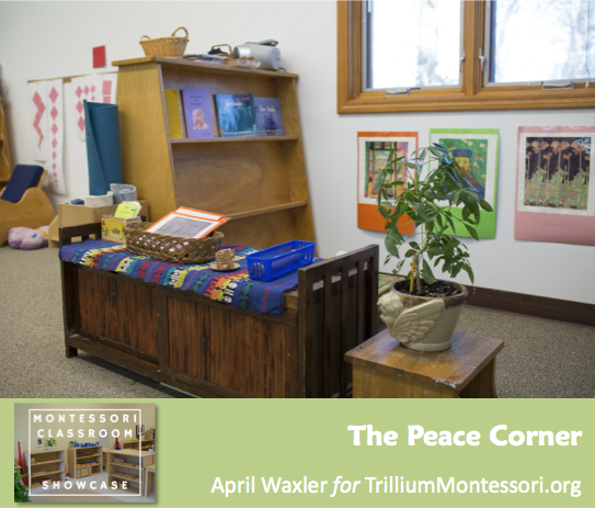 April Waxler Montessori Classroom Shelves Peace Corner