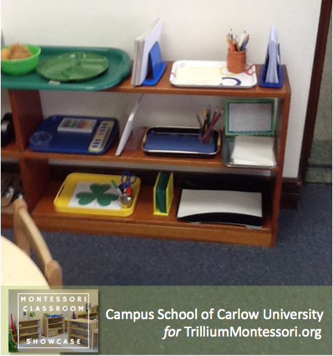 Campus School of Carlow Montessori classroom Art