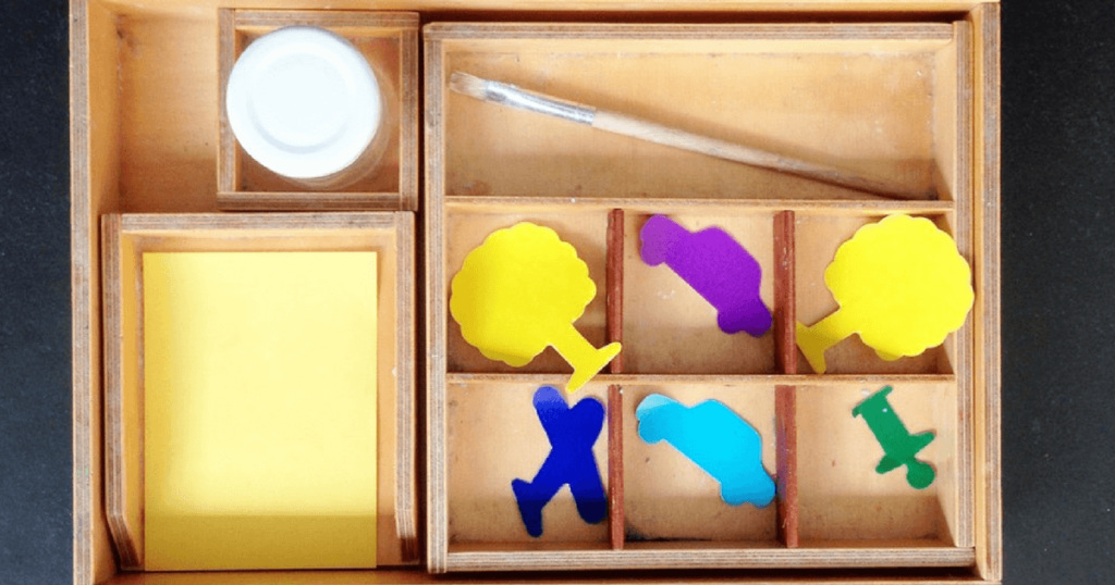 Montessori Art Trays for Toddlers and Preschool