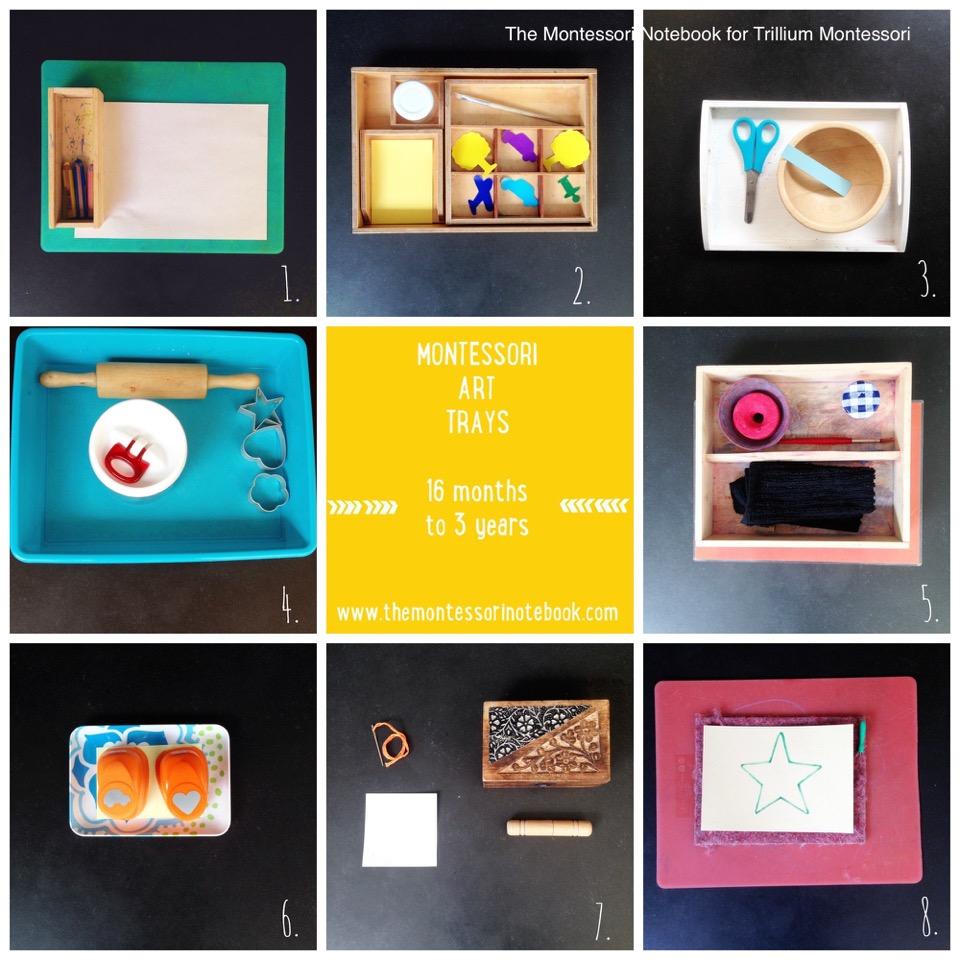 montessori art activities. Montessori Art Trays for Toddlers   Trillium Montessori