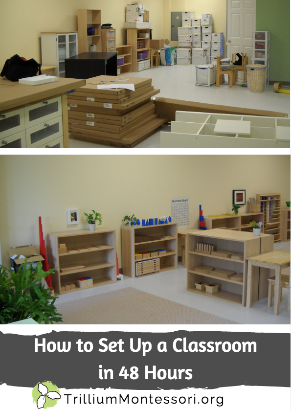 How to set up a classroom in 48 hours