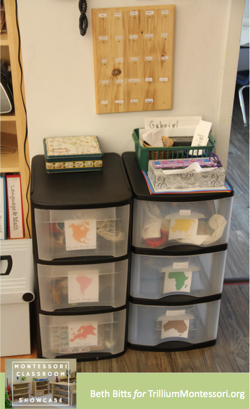 Montessori Classroom Showcase Beth Bitts Continent Drawers