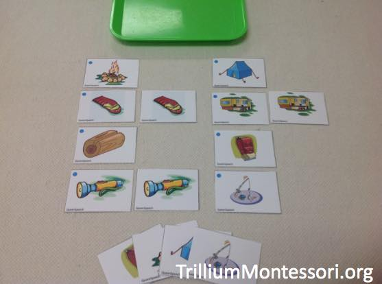 Preschool Camping Theme 5 Matching Pictures