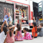 Learning about fire safety in preschool