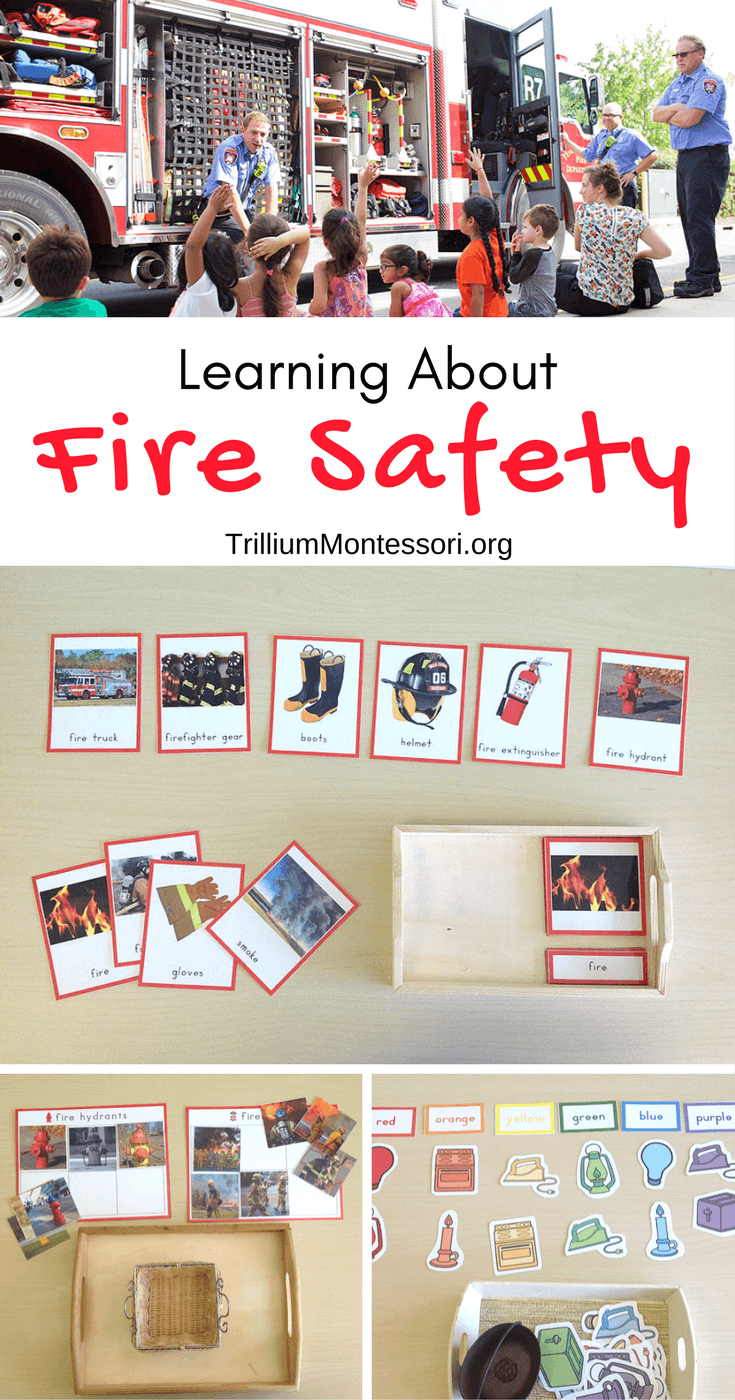 Preschool activities for learning about Fire Safety