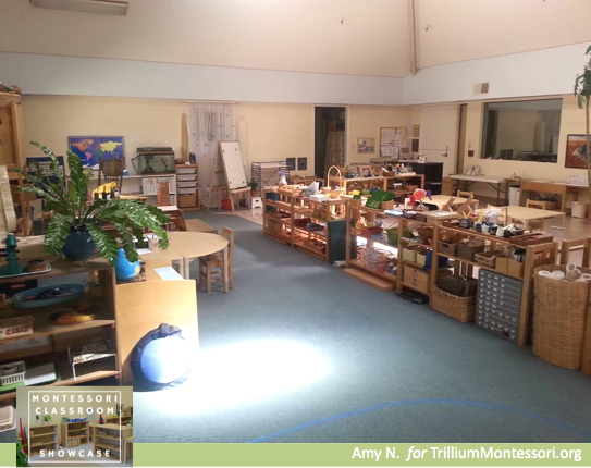 Montessori Classroom Showcase Series view of the classroom