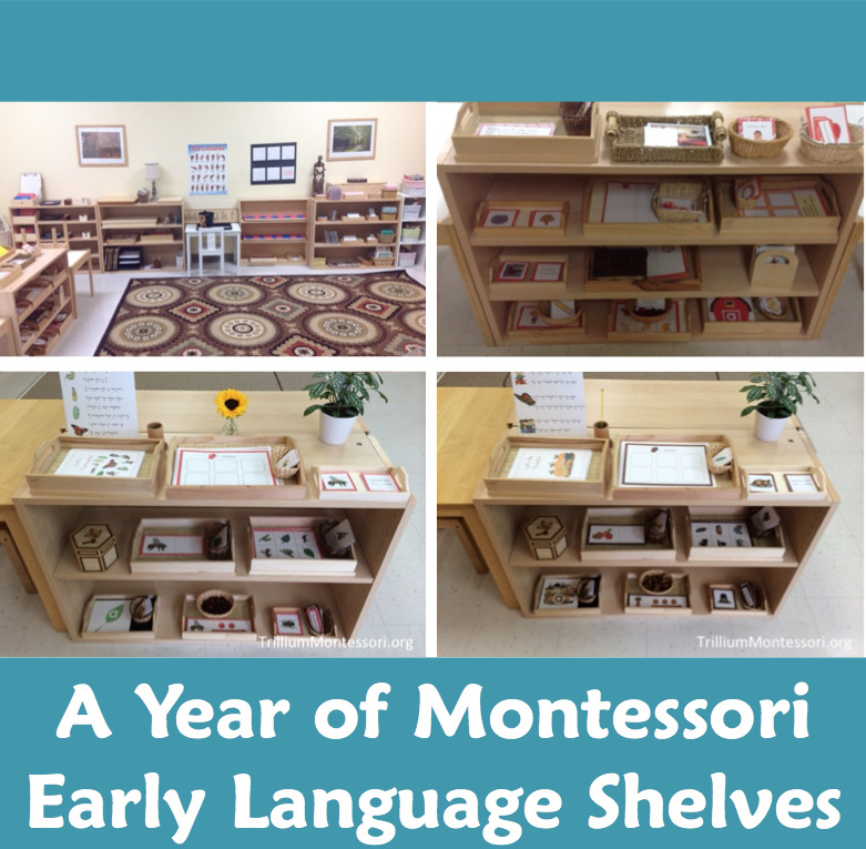 A Year of Montessori Early language Shelves