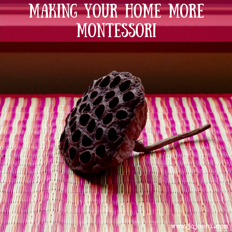 Making Your Home More Montessori