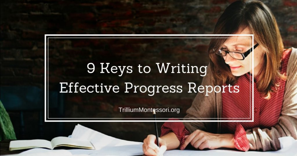 9 Keys to Writing Effective Progress Reports