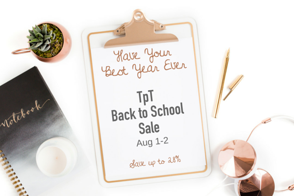 TpT Sign- Back to school 2016