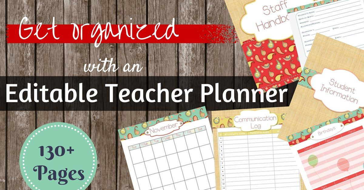 Get organized with an editable teacher binder