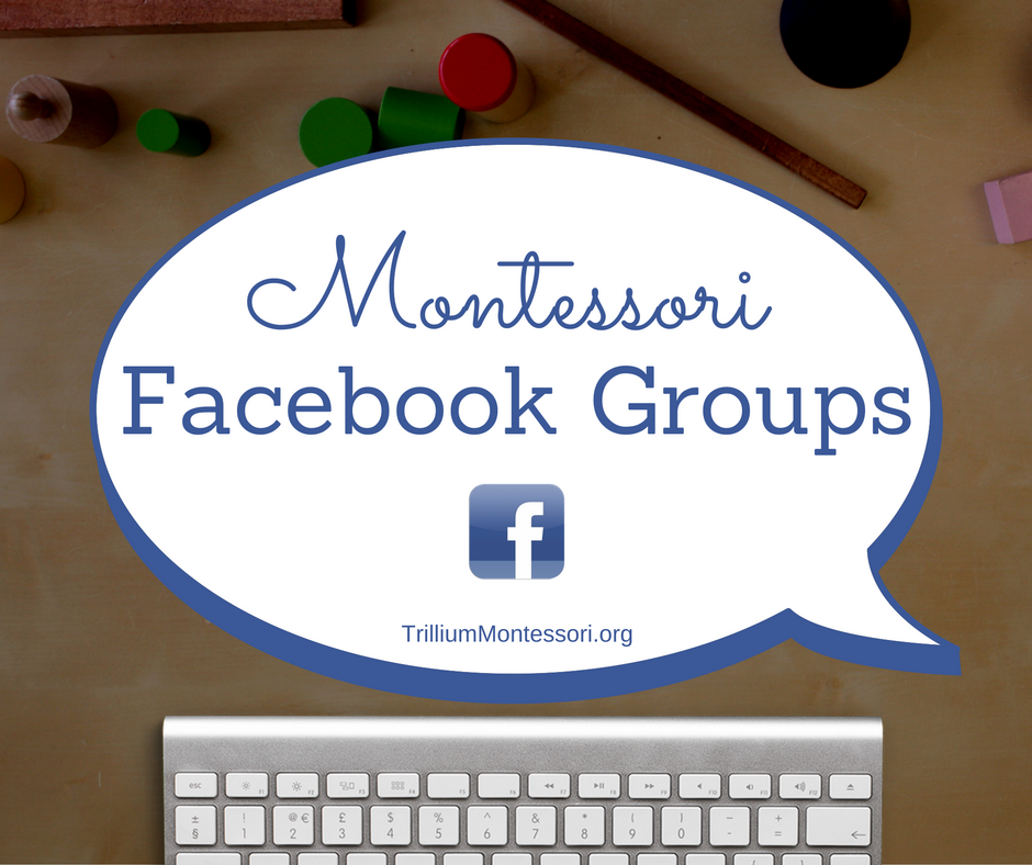 Montessori groups on Facebook