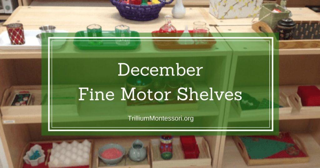 December Fine Motor Shelf