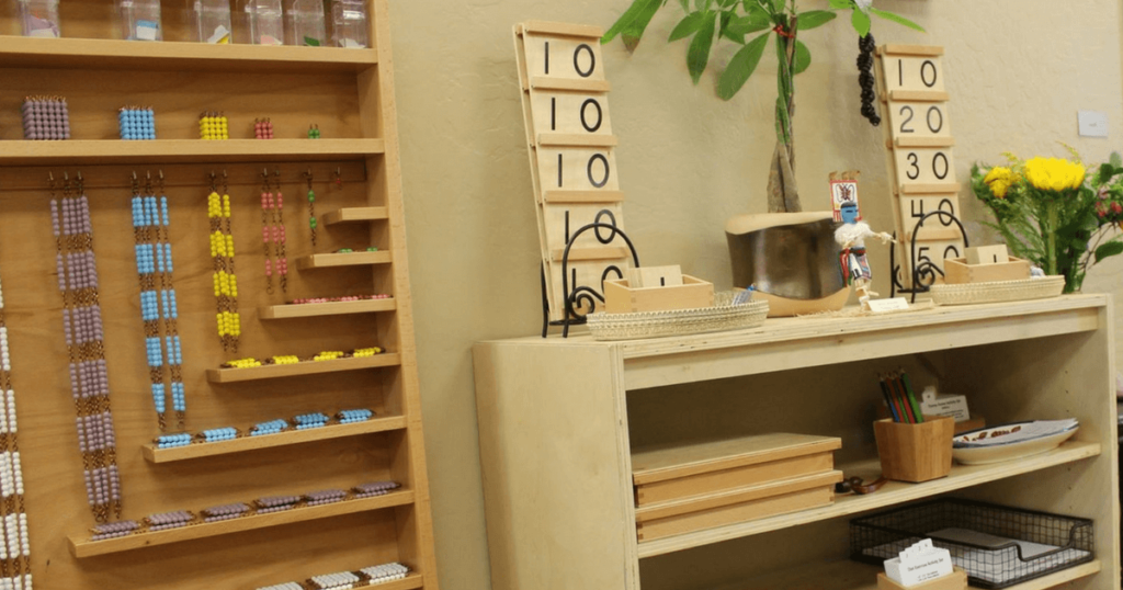 Lauren's Montessori Classroom: The Math Area
