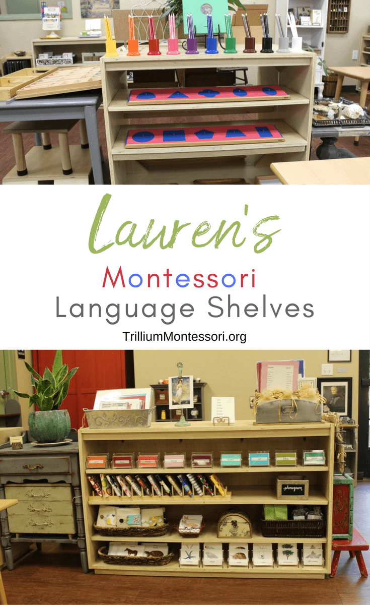 A tour of Lauren's Montessori Language shelves and activities