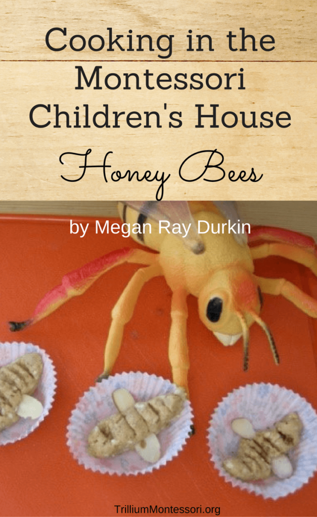 Cooking with children in the Montessori children's house honey bees easy recipe