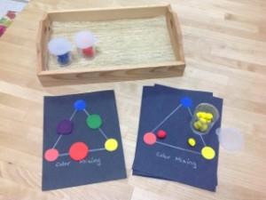 Playdoh Color Mixing- Montessori Art