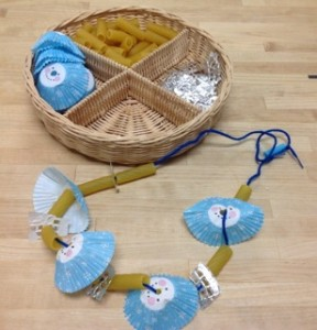 Necklace Making- Montessori Sewing