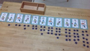 Snowflake Counting- Montessori Math