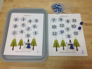 Roll the Dice- A Winter Math Game