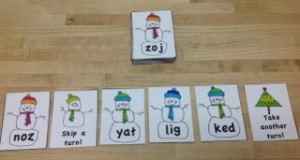 Snowman Nonsense Words- Montessori Language