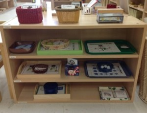 Pre-Literacy Shelf in January- Montessori Language