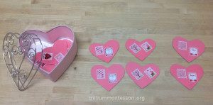 Heart Picture Matching- Trillium Montessori Language