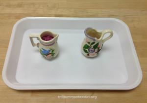 Dry Pouring Purple Pasta Flowers - Trillium Montessori Fine Motor