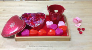 Hearts Secret Number Game- Trillium Montessori Math