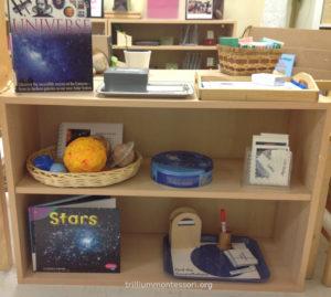 Astronomy Shelf- Trillium Montessori