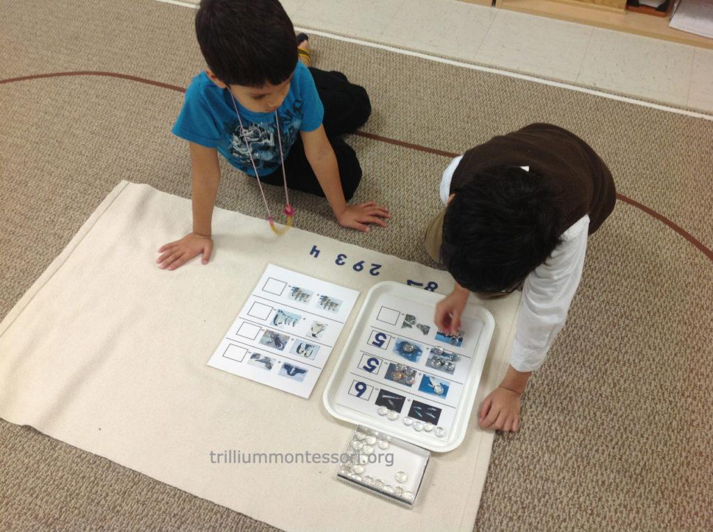 Addition with Animals - Trillium Montessori