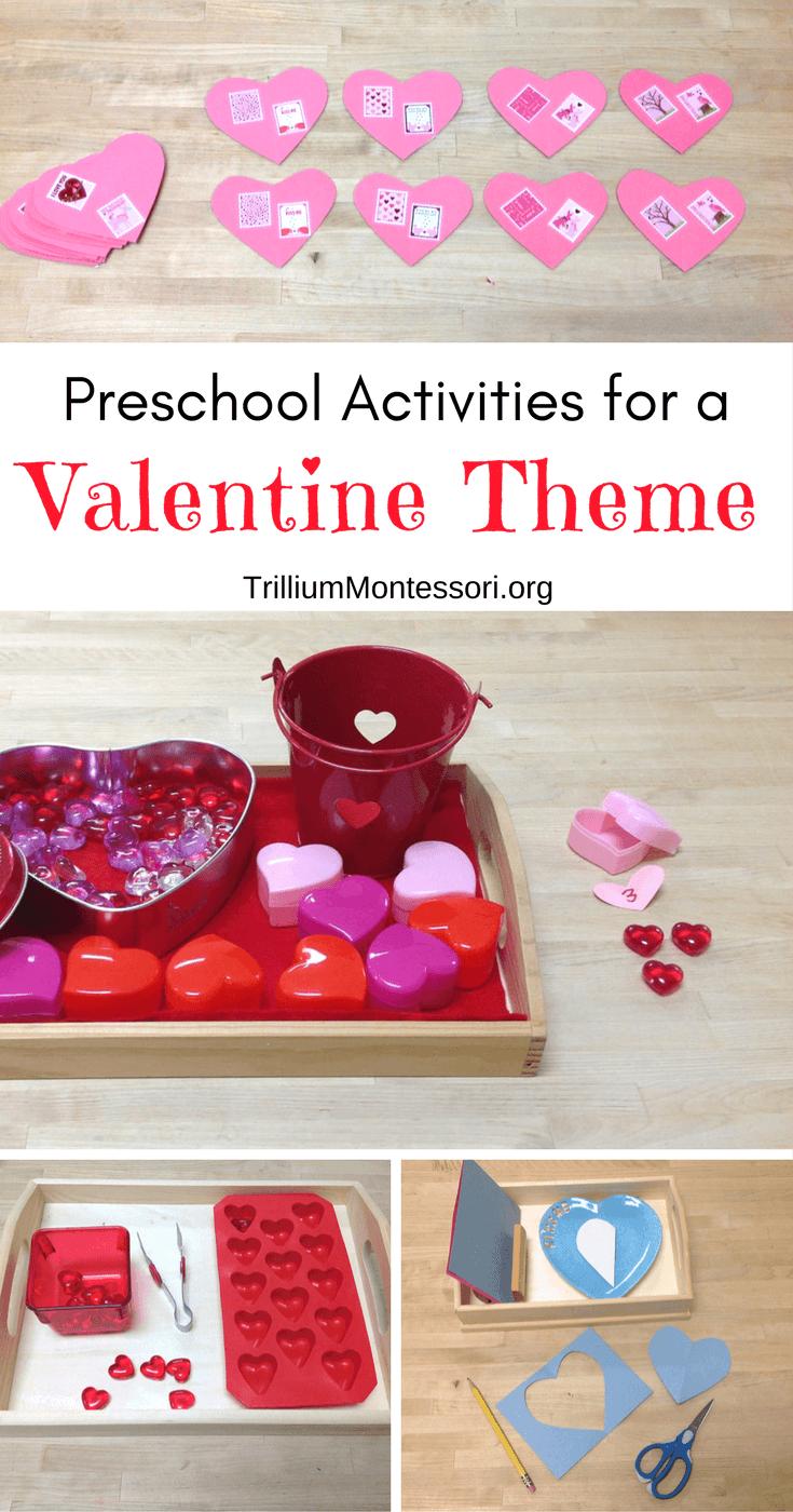 Preschool activities for a valentine theme