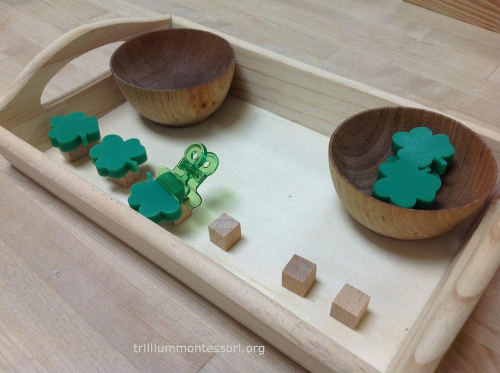 Balancing Shamrocks- Trillium Montessori