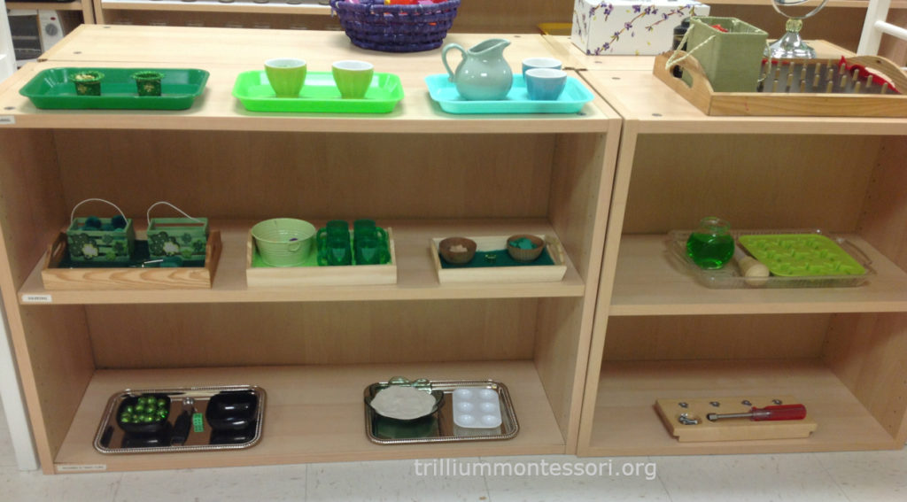 March Fine Motor Shelf -St Patrick's Day- Trillium Montessori